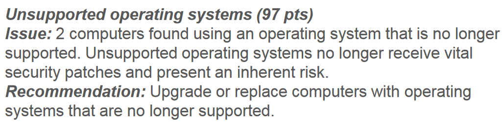 Unsupported Operating Systems